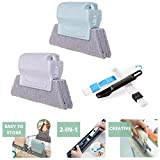 Magic Window Cleaning Brush, Crevice Cleaning Tool, Handheld Groove Gap Brush For Window Groove Sill Door Track Gap Cleaning(4PCS)