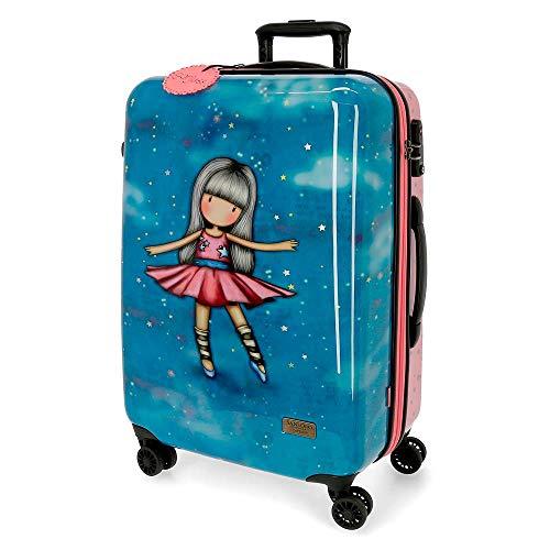 Santoro Gorjuss Dancing Among The Stars Maleta Mediana Multicolor 45x67x26 cms Rígida ABS Cierre TSA 64L 3,5Kgs 4 Ruedas Dobles
