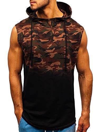 BOLF Hombre Camiseta Tank Top Escote Redondo Estampado Estilo Diario Mix 3C3