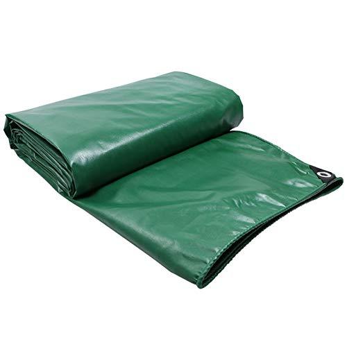 Lona de PVC para camión, Impermeable, Resistente a los Rayos UV, Resistente, para Coche, Barco, Camping, leña para leña, Verde