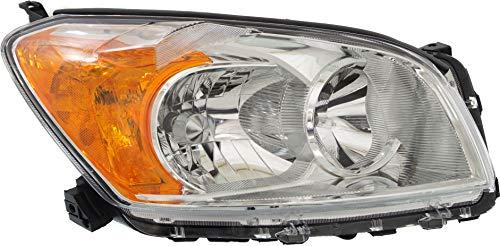 Evan-Fischer Headlight Assembly Compatible with 2009-2012 Toyota RAV4 Halogen Base/Limited Models Japan Built Passenger Side