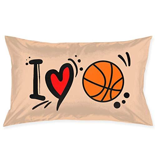 gong Funda de Almohada 20'X30 Fundas de Almohada I Love Funda de Almohada de Baloncesto Funda de cojín estándar para decoración de sofá Do