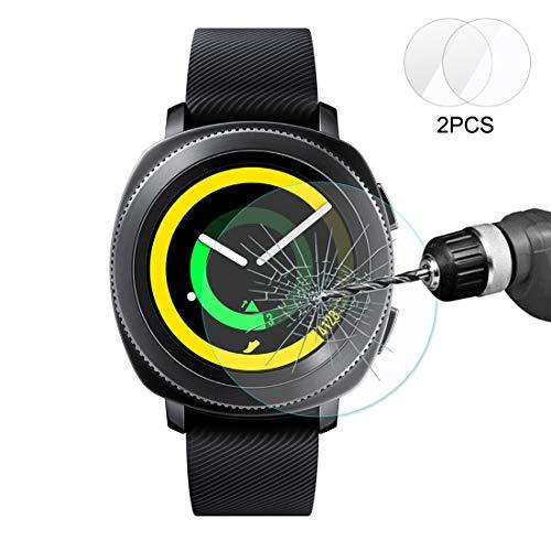 Film DFDA 2 PCS Enkay Hat-Prince For Samsung Toestel Sport Smart Horloge 0.2mm 9H Hardheid Van De Oppervlakte 2.15D Explosieveilige Gehard Glas Screen Film Doorzichtig