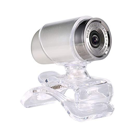 640P Webcam en vivo webcam cámara web USB de 360 grados giratoria for PC portátil con clip de la cámara for la celebración de conferencias de vídeo juego de escritorio de oficina Instalación Fácil