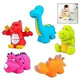 iwobi Ensamblando de Dinosaurios para el Baño para Niños, Animales Baño para...