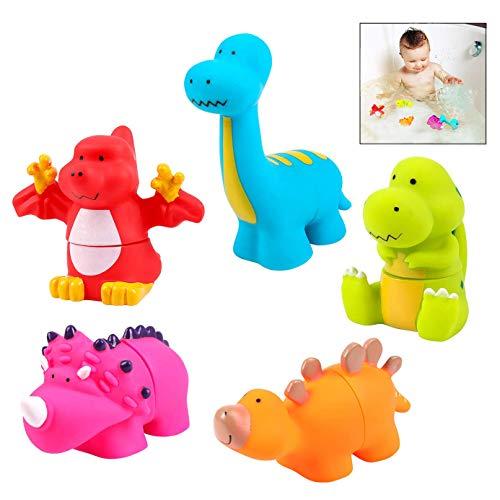 iwobi Ensamblando de Dinosaurios para el Baño para Niños, Animales Baño para Bebe, Kits educativos para niños Regalos para niños, niñas, bebés, bebés