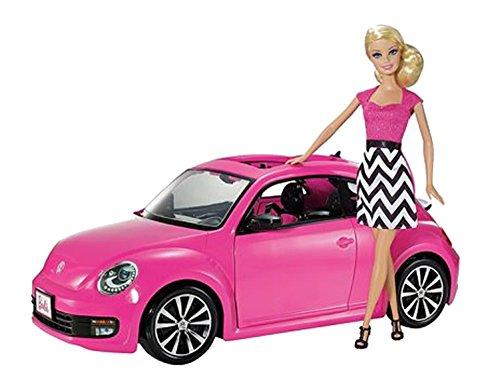 Mattel V1866 - Voiture Volkswagen New Beetle et Poupée Barbie