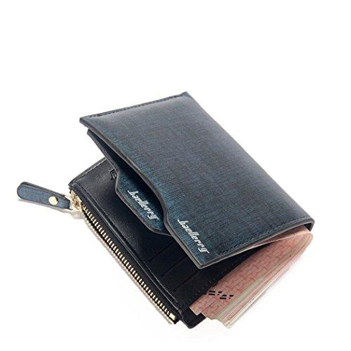 Abaría - Slim billetero hombre negro cartera con bolsillo para monedas, monedero...