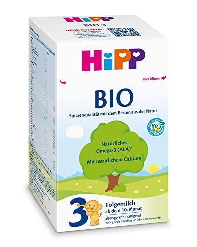 Hipp Bio 3 Folgemilch - ab dem 10. Monat, 2er Pack (2 x 600g)