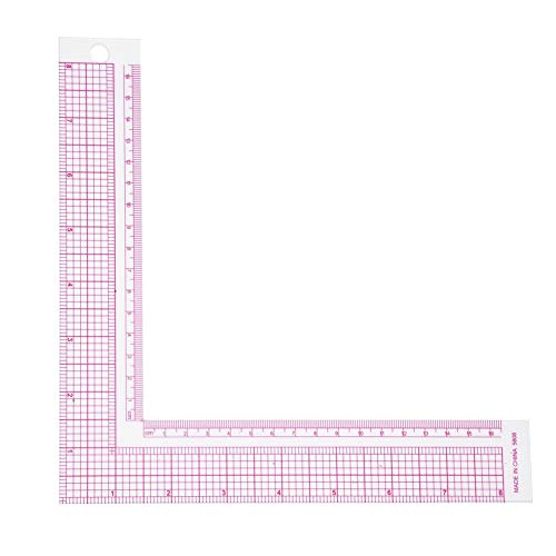 Samfox Reglas De Costura Patronaje Reglas De Costura Regla de Costura Plástico L-Cuadrado Regla de Clasificación de Prendas Regla de Medida de Costura para Corte y Confección(5808)