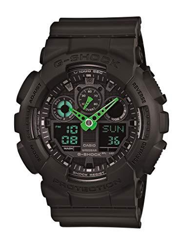 Casio Men's G-Shock Quartz Sport Watch with Resin Strap, Black, 29.4 (Model: GA-100C-1A3CR)