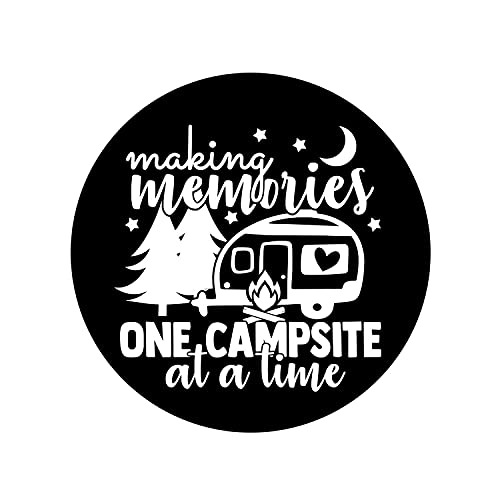 """Gocerktr Making Memories Spare Tire Cover Universal Sunscreen Waterproof Dust-Proof Wheel Covers Fit for Trailer, RV, SUV, Camper, Truck, Travel and Many Vehicles (14"""" 15"""" 16"""" 17"""")"""
