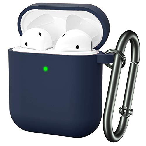 for Airpod Case, MARGE PLUS Silicone Airpods Case Cover (Front LED Visible) Compatible for Apple...
