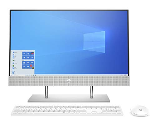 HP AIO Core i5 10th Gen 23.8-inch(60.5 cm) FHD with Alexa Built-in (8GB/256 GB SSD+1TB HDD/Windows 10/MS Office 2019/Natural Silver), 24-dp0813in