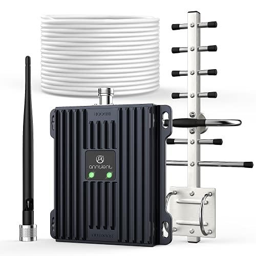 ANNTLENT Amplificador de Señal 4G LTE 800Mhz Bande 20 Amplificador de Señal Celular 4G LTE 2600Mhz Bande 7 Amplificador de Cobertura Movil Mejorar la Datos 4G -Soporte Movistar, Orange, Vodafone