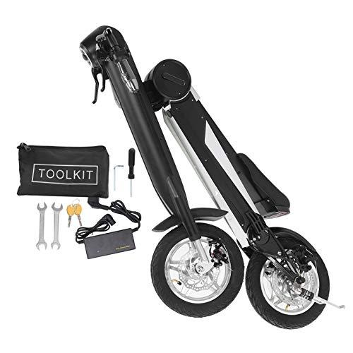 RANNYY Scooter eléctrico, 36V/250W Motor sin escobillas Patinete eléctrico Pequeña Bicicleta eléctrica Plegable con luz Delantera 220V(European Plug)