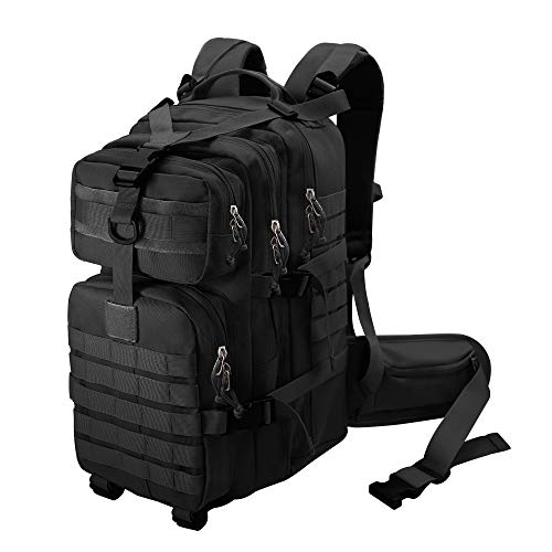 Hiking Tactical Military Backpack for Men Survival Bug Out Bag Outdoor,Hunting,Camping,Traveling(black)