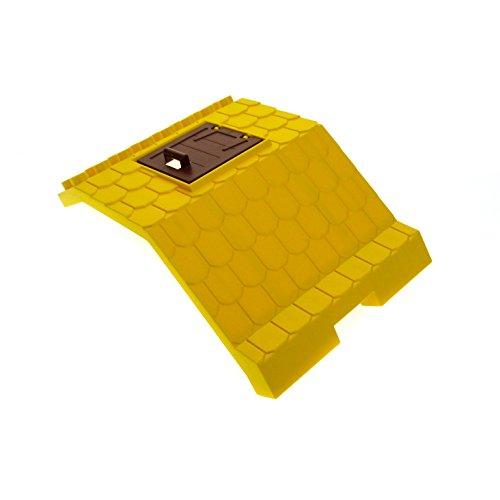 1 x Lego Duplo Dach gelb 8 x 8 x 6 gross mit Tür reddish braun Gebäude Bauernhof Haus Scheune für Set 5649 66454 87653 87654