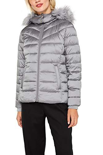 edc by ESPRIT Damen 089Cc1G012 Jacke, Grau (Medium Grey 035), (Herstellergröße: M)
