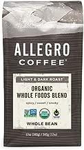 Allegro Coffee Organic Whole Foods Blend Whole Bean Coffee, 12 oz