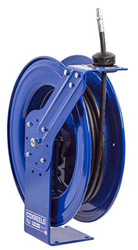 Coxreels HP-N-140 Heavy Duty Spring Rewind Hose Reel for Grease/Hydraulic Oil: 1/4