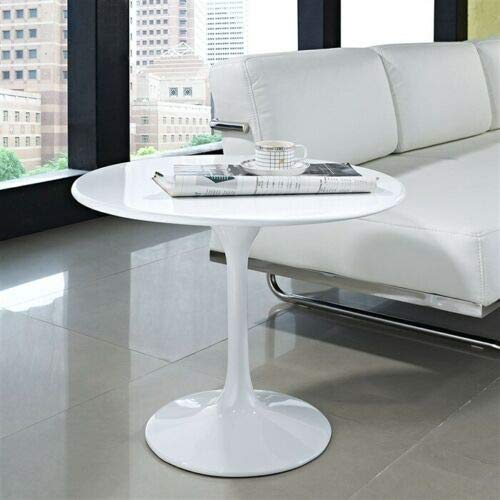 ElleDesign Coffee Table White Diameter 60 Cm Saarinen Tulip Polished Side Sofa Replica