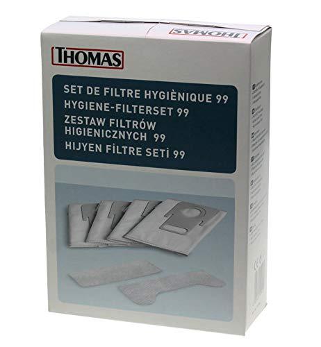 Thomas Original alemán Filtro Set incluye 4juego de filtros de higiene 99bolsa + 1pcs filtro de carbón activo + 1pcs Escape microfiltro de 6artículos interior 787246