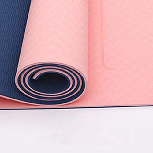 XYBB Esterillas Yoga Colchoneta Gimnasia TPE Zodiac Signs Body Exercise Non-Slip Absorb Fitness Mat Body Link Gym 183 * 66cm Tiger