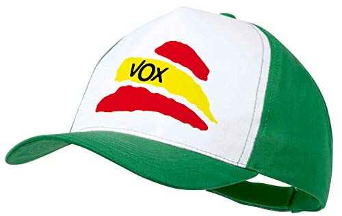 MERCHANDMANIA Gorra Verde Partido VOX Bandera ESPAÑOLA Color Cap
