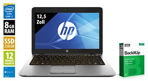 HP EliteBook 820 G3   Notebook   12,5 Zoll   Intel Core i7-6600U @ 2,6 GHz   8GB RAM   250GB SSD   FHD (1920x1080)   Webcam   Windows 10 Home (Zertifiziert und Generalüberholt)