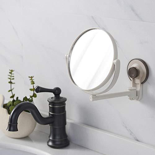 Schminkspiegel Badezimmerspiegel Kosmetikspiegel Saugnapf Mit 1-Facher/Dreifacher Vergrößerung Verstellbarer Schminkspiegel Doppelseitiger Badezimmerspiegel
