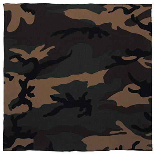 Bandana Tuch Camouflage grün braun Biker Kopftuch woodland Halstuch 100% Baumwolle