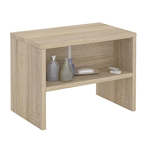 CARO-Möbel Nachttisch NEY Nachtschrank Beistelltisch mit offenem Fach in Sonoma Eiche