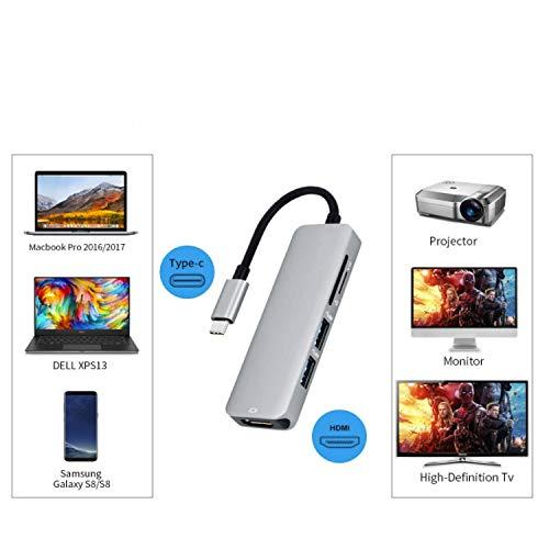 Ronshin Electronics & accessoires voor type C USB 3.1 Multiport Adapter USB-C op HDMI 4 K HD USB 3.0 Hub 2 Port SD TF Card Reader converter kabel voor Macbook