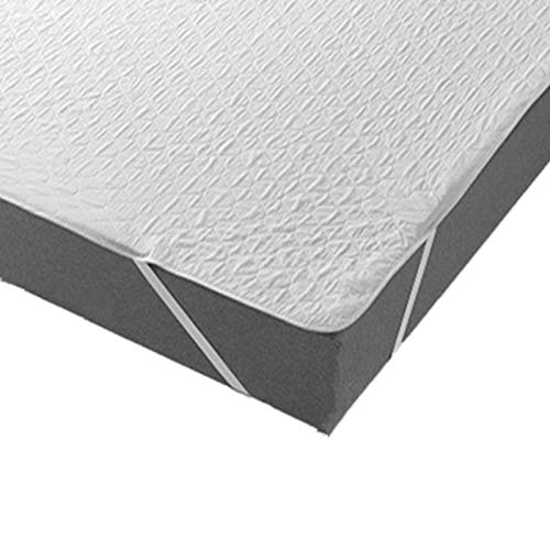 haiba Bedding Waterproof Mattress Protector - Breathable Cotton Top Mattress Cover with Elastic Corner Straps (99 x 200 cm)