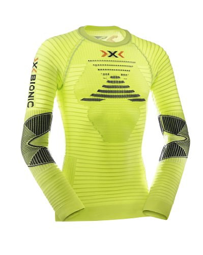X-Bionic Erwachsene Funktionsbekleidung Running AE Man Effektor Power OW Shirt LG SL, Green Lime/Black, XXL