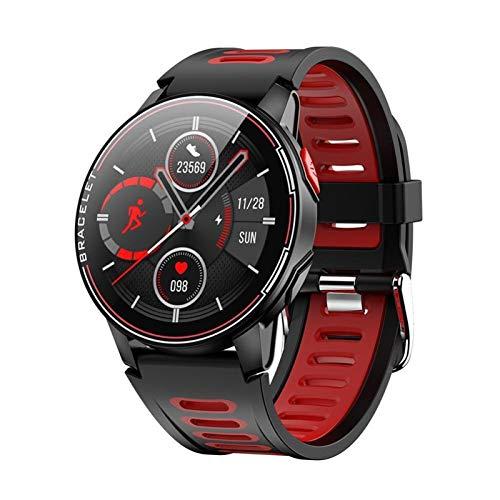 LYB Nuevo reloj inteligente IP68 impermeable deporte Bluetooth Smartwatch (color: rojo)