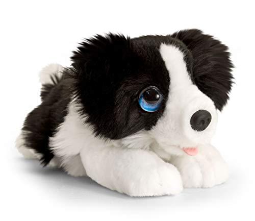 Lashuma Plüschtier Hund Border Collie, Keel Toys Kuscheltier Schwarz - Weiß 25 cm