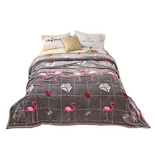 Stillshine Floral Flamingo zachte zachte dekens volledige grootte - lichtgewicht microvezel pluche fluweel deken bank deken Travel deken sprei deken gooien deken gemakkelijk zorg