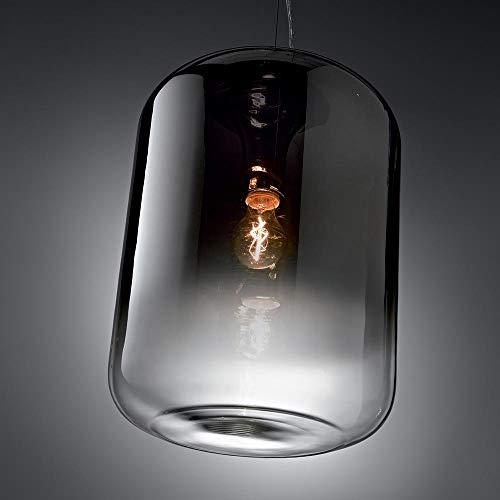 Ideal Lux Ken Pendelleuchte verspiegelter Glaszylinder 50cm Pendellampe Rauchglas