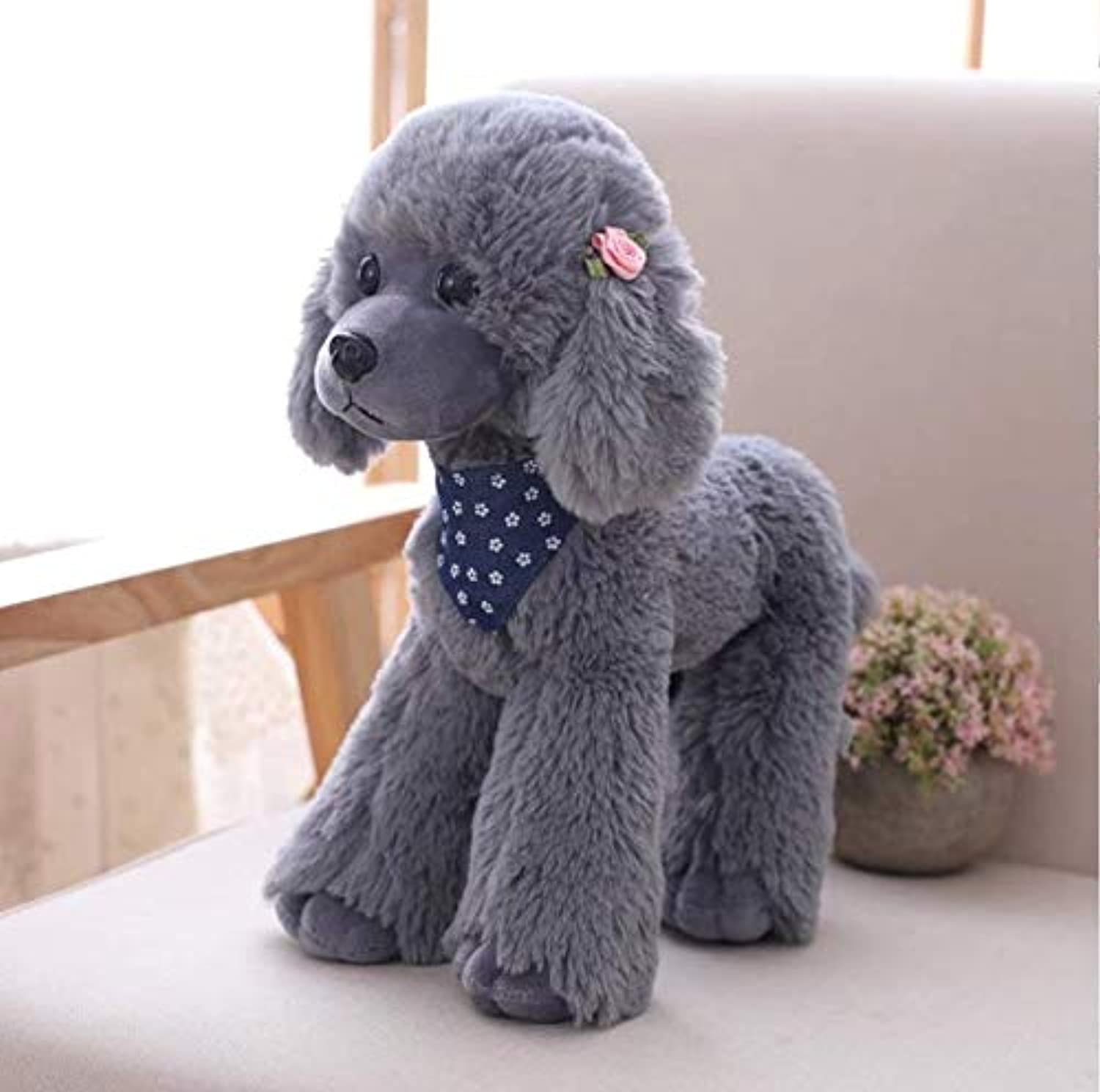 KOONNG 2540cm Simulation Teddy dog doll, poodle home furnishing plush toys for girls birthday gifts,C,25CM