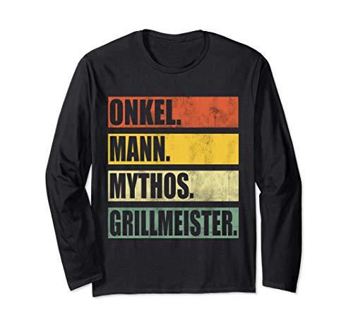 ONKEL MANN MYTHOS GRILLMEISTER Grill Grillen BBQ Barbecue Langarmshirt