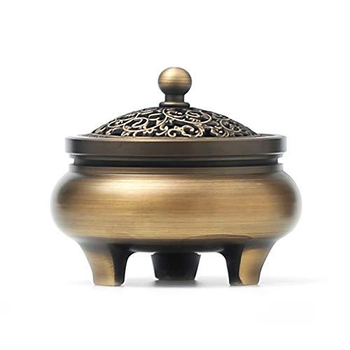 WJBH Forno di aromaterapia Rame puro auto creativa semplice sala da tè Pentola bruciatore di incenso legno di sandalo Jinbao lingotto bruciatore di incenso di rame dimensioni 9 cm * altezza 7,5 cm ott