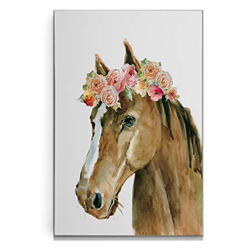 Renditions Gallery Horse Flower Crown Carol Robinson Gallery Wrapped Canvas Wall Art, 16x20