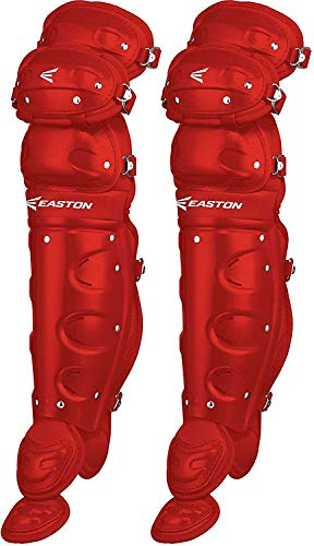 Easton Youth Natural Leg Guards, Red Easton Hockey Shin Guards