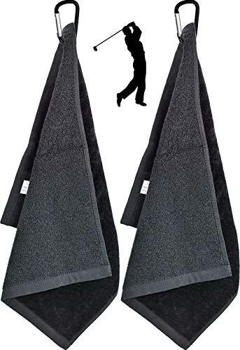 2 Piezas Toalla de Golf de Microfibra Toalla de Limpieza de Golf con mosquetón para Golf Yoga Acampada Gimnasia - 6 'x 13'