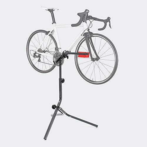 WilTec Pied d'atelier pour vélo Support Trépied Réparation Entretien Acier Hauteur Ajustable jusqu'à 30kg