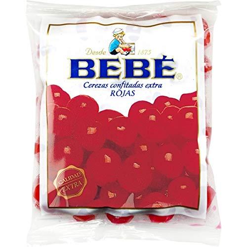 Bebe - Ciliegie rosse extra candite - Ideale per dolci - 3 unità x 100 grammi - 300 grammi in totale