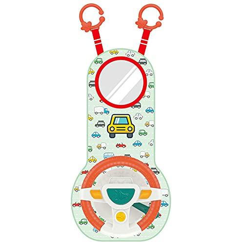 SENZHILINLIGHT Bebé Niños Eletric Simulación Volante Juguete Conducción Interactiva Musical Educativo Asiento...