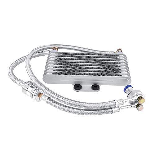 125ml Motorcycle Oil Cooler Engine Oil Cooling Radiator System Kit for Honda CB CG Engine - Aluminum Material